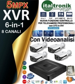KIT DVR VIDEOSORVEGLIANZA - DVR 8 C